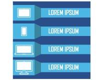 Réflexion horizontale attrayante de Clipart de conception d'Infographic de dispositif d'instrument Image stock