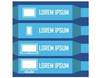 Réflexion horizontale attrayante de Clipart de conception d'Infographic de dispositif d'instrument Images stock
