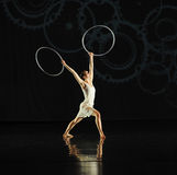 Réflexion inversée - musical de danse : Ligne rouge Photos stock