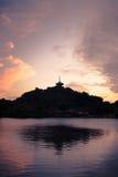 Réflexion japonaise de pagoda Image libre de droits