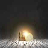 réflexion réelle d'argent de maison de patrimoine de concept Photo libre de droits