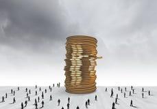réflexion réelle d'argent de maison de patrimoine de concept Images libres de droits