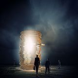 réflexion réelle d'argent de maison de patrimoine de concept Photo stock