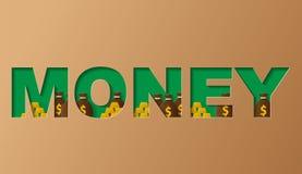 réflexion réelle d'argent de maison de patrimoine de concept Illustration dans le style d'art de coupe de papier illustration libre de droits