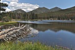 Réflexion sur le lac Sprague Photos libres de droits