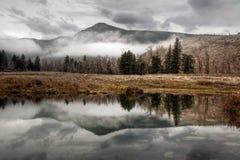 Réflexion verte de montagne Photographie stock libre de droits