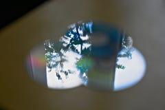 Réflexions abstraites sur des disques compacts images libres de droits