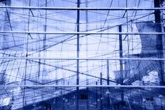 Réflexions bleues abstraites Photos libres de droits