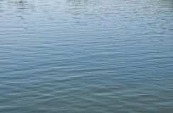 Réflexions bleues dans l'eau Images stock