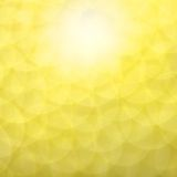 Réflexions circulaires jaunes photo stock