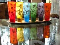 Réflexions colorées Images stock