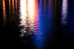 Réflexions colorées de l'eau Photos libres de droits