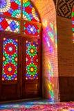 Réflexions colorées de Nasir Al-Mulk Mosque Photographie stock