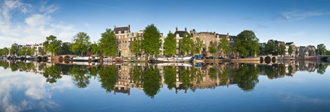 Réflexions d'Amsterdam, Hollande Photographie stock