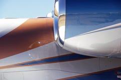 Réflexions d'avion à réaction Images stock