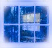 Réflexions dans une fenêtre Photo stock