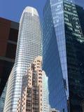 Réflexions de bâtiments de San Francisco Photographie stock