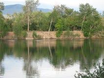 Réflexions de Boise Cascade Lake photo stock