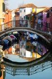 Réflexions de Burano Photos libres de droits