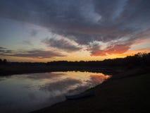 Réflexions de coucher du soleil Photo libre de droits