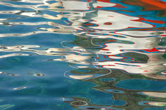 Réflexions de couleur d'eau Images libres de droits