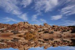 Réflexions de désert Image libre de droits