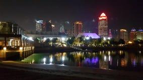 Réflexions de Doha images libres de droits