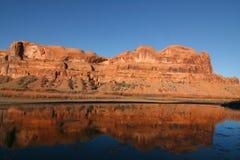 Réflexions de fleuve Photo libre de droits