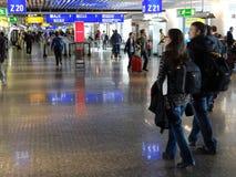 Réflexions de fonte de voyageurs Photos libres de droits