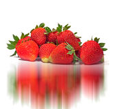 Réflexions de fraise photographie stock libre de droits