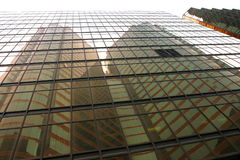 Réflexions de gratte-ciel. Hong Kong. Images libres de droits