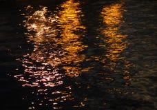 Réflexions de l'eau Images libres de droits