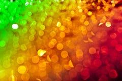 réflexions de la lumière defocused Trois-colorées Images stock