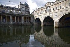 Réflexions de la ville historique de Bath Photographie stock libre de droits