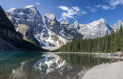 Réflexions de Lake Louise photo stock