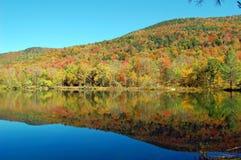 Réflexions de montagne d'étang Photos stock