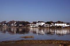 Réflexions de Mudeford Quay Dorset Images libres de droits