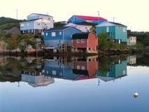 Réflexions de port photographie stock