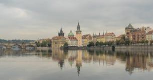 Réflexions de Prague Photographie stock libre de droits