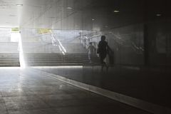 Réflexions de ville images stock