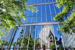 Réflexions de ville Photographie stock