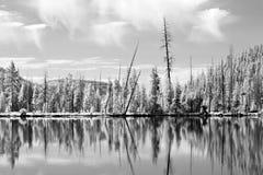 Réflexions de Yellowstone dans l'IR photographie stock libre de droits