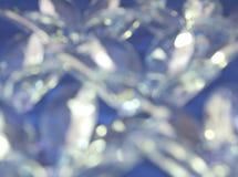 Réflexions en verre bleues Image stock