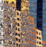 Réflexions en verre de bâtiment Photo libre de droits