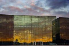 Réflexions en verre de construction Photos libres de droits