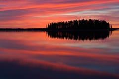 Réflexions rouges Photos stock