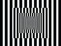 Réflexions verticales d'art op noires et blanches illustration libre de droits