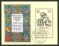 Réformateur Martin Luther et initiales illustration stock