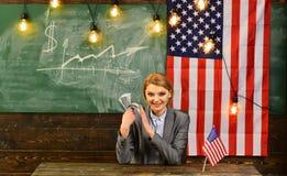 Réforme américaine d'éducation à l'école dans le 4 juillet Jour de la Déclaration d'Indépendance des Etats-Unis Planification de  Photo libre de droits