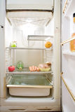Réfrigérateur vide Photo stock